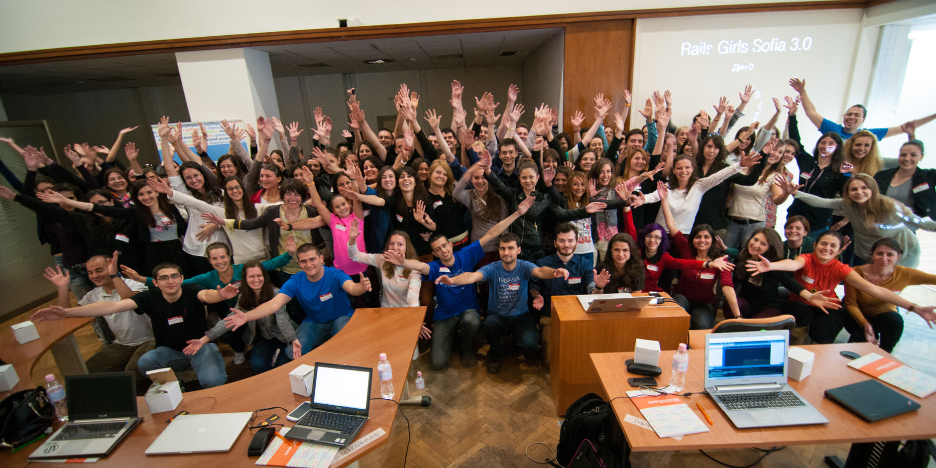 Rails Girls Sofia October 2014 Group Photo